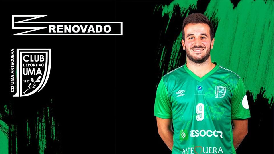 Dani Ramos renueva por el BeSoccer CD UMA Antequera
