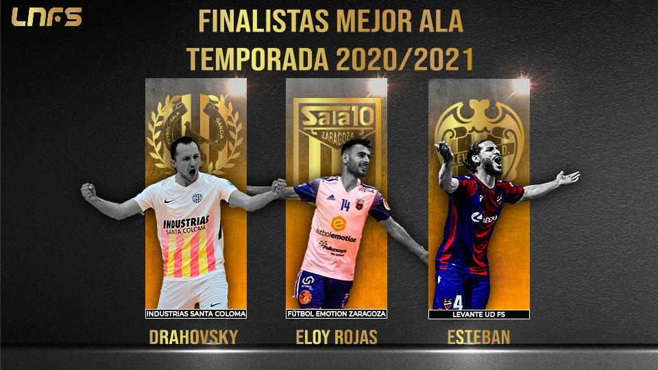 Drahovsky, Esteban y Eloy Rojas: Nominados al 'Mejor Ala' de la Temporada 20/21