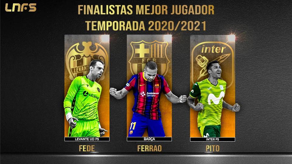 Fede, Ferrao y Pito: Nominados al 'Mejor Jugador' de la Temporada 20/21