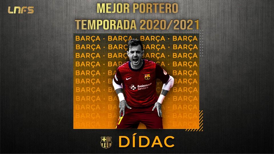 Dídac Plana, 'Mejor Portero' de la Temporada 20/21