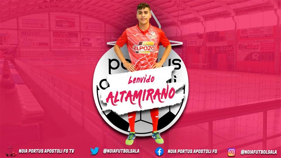Leandro Altamirano, nuevo jugador de Noia Portus Apostoli.