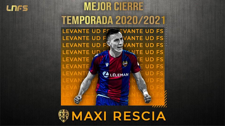 Maxi Rescia,  'Mejor Cierre' de la Temporada 20/21.