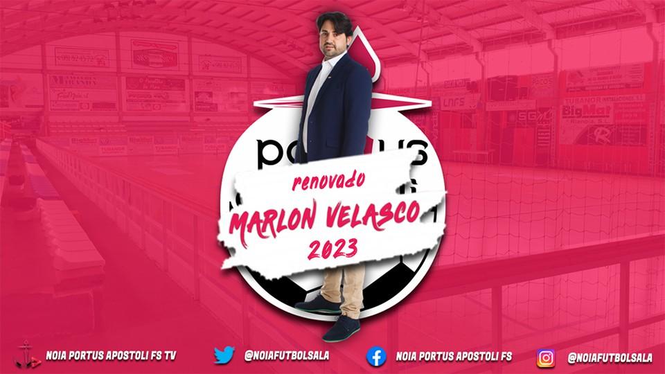 Marlon Velasco y el Noia Portus Apostoli FS renuevan su unión hasta 2023