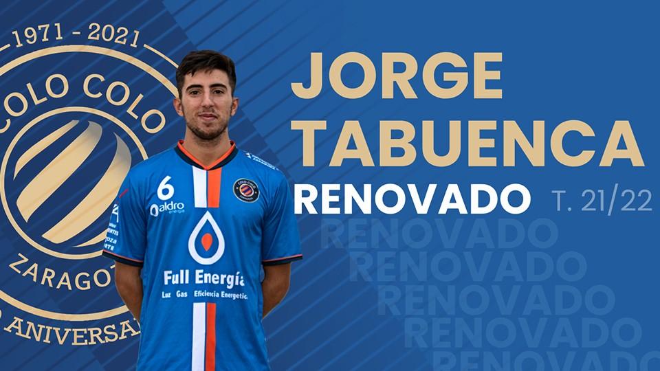 Jorge Tabuenca renueva por el Full Energía Zaragoza