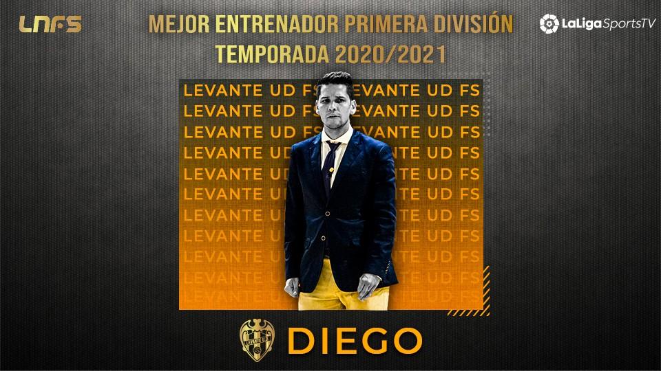 Diego Ríos, 'Trofeo LaLigaSportsTV al Mejor Entrenador de Primera División' de la Temporada 20/21