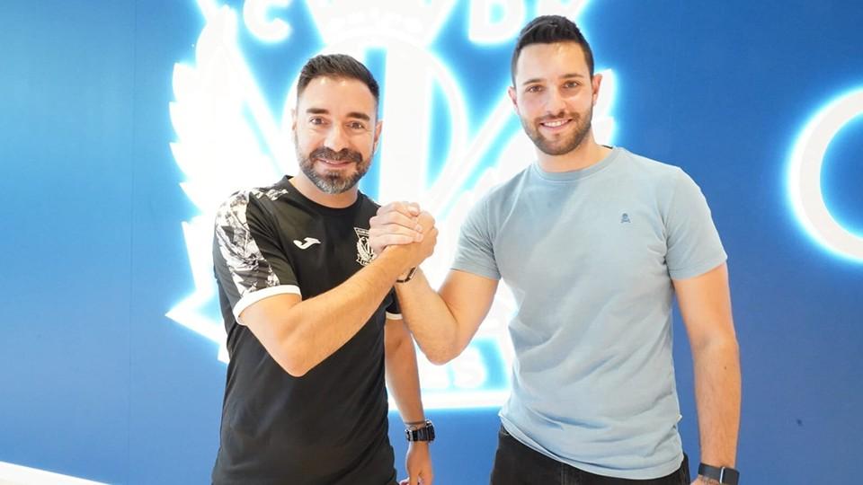Andrés Parada, director deportivo del CD Leganés FS, junto a Mario López, nuevo segundo entrenador y preparador físico.