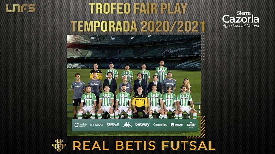 El Real Betis Futsal, 'Trofeo Fair Play Agua Sierra Cazorla' de la Temporada 20/21