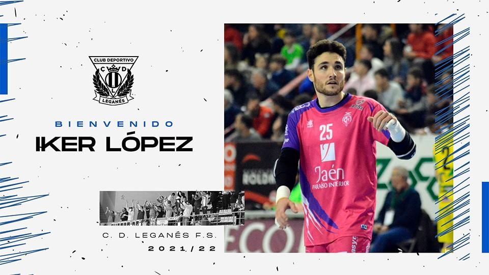 Iker López completa la portería del CD Leganés FS