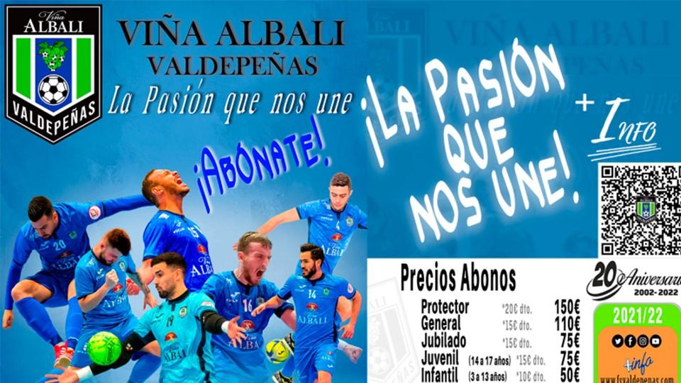 Viña Albali Valdepeñas lanza su campaña de abonados para la Temporada 21/22