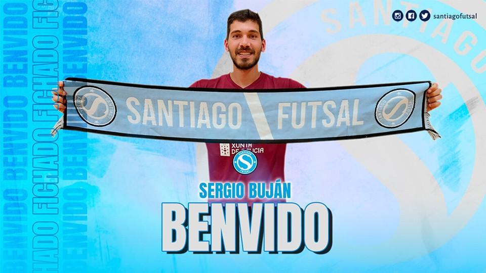 Sergio Buján, tercer refuerzo del Santiago Futsal
