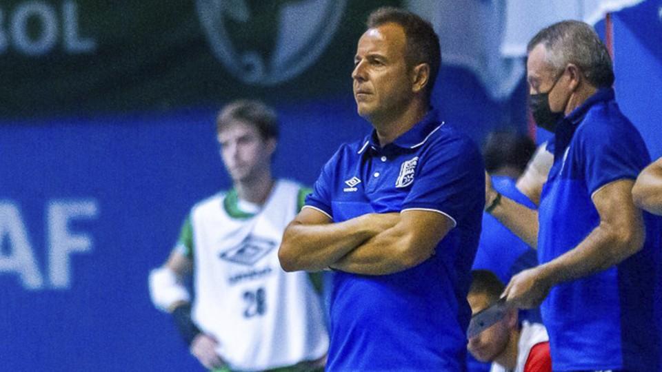 Tete, entrenador del BeSoccer UMA Antequera (Fotografía: iso100photopress)