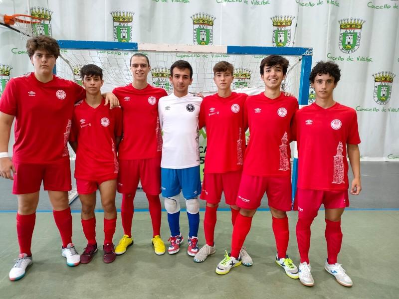 Victoria en el primer test de pretemporada para el equipo senior masculino de la Academia Red Blue 5 Coruña  ante el Vilalba FS