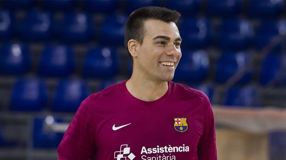 Sergio Lozano, jugador del Barça.