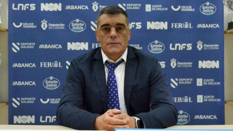 Óscar Vigo, entrenador de O Parrulo Ferrol