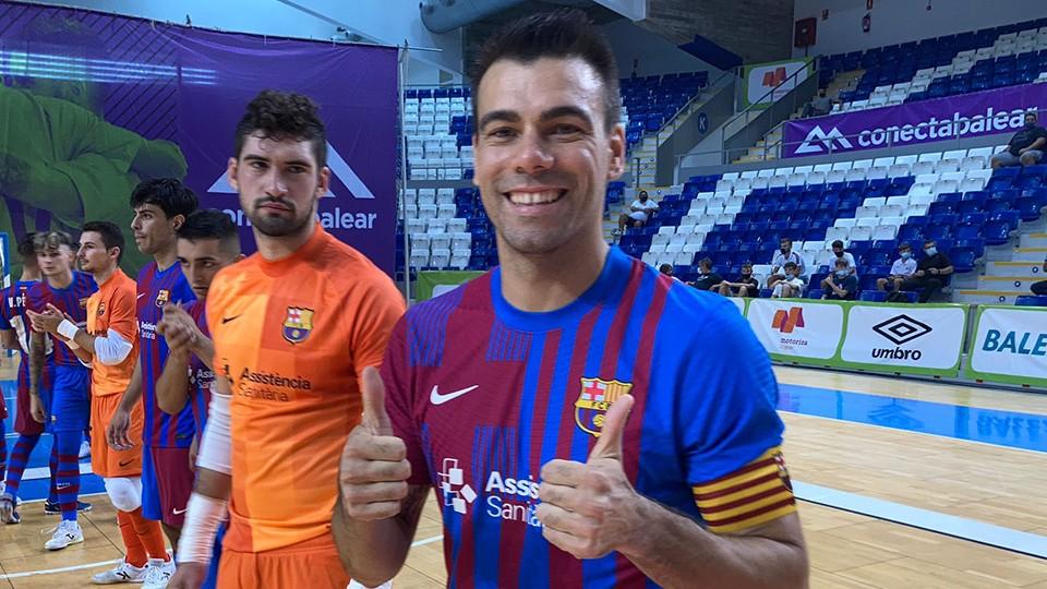 Sergio Lozano, capitán del Barça, posa en su regreso a las pistas.