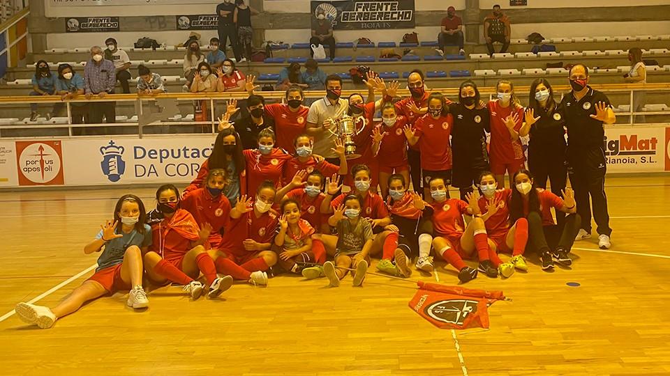 El RC Deportivo realizará un homenaje al equipo senior femenino de la Academia Red Blue 5 Coruña Fútbol Sala