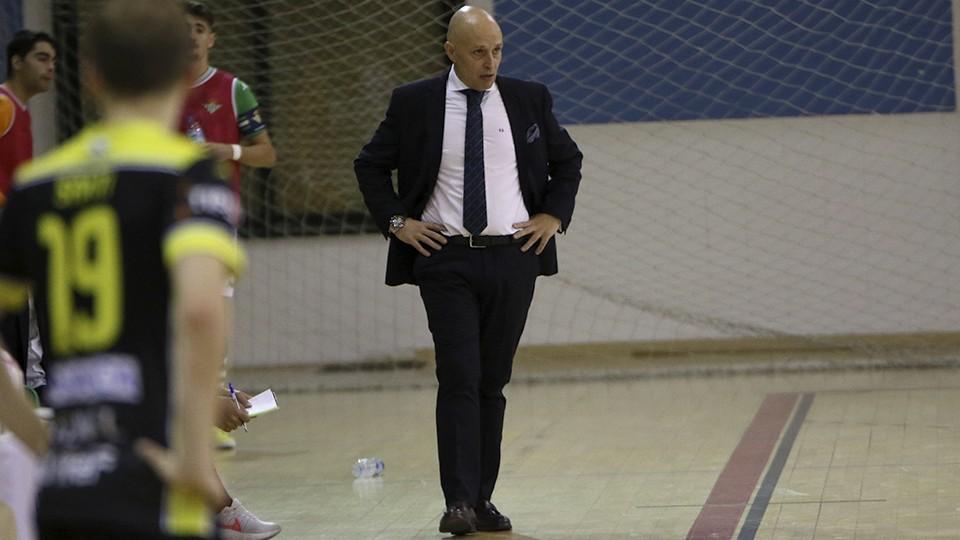 David Zamorano, entrenador del Real Betis Futsal B.