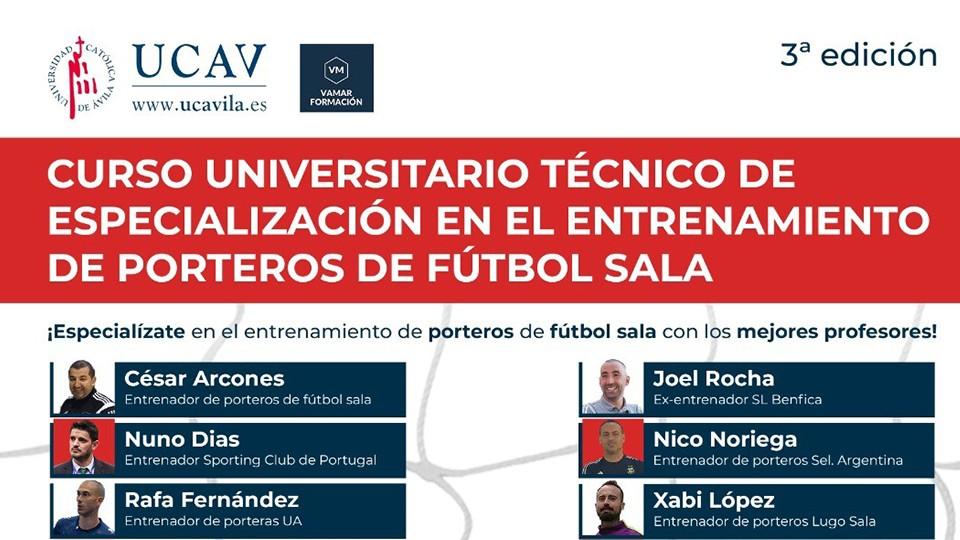 """3ª Edición del """"Curso Universitario Técnico de Especialización en Entrenamiento de Porteros de Fútbol Sala"""""""