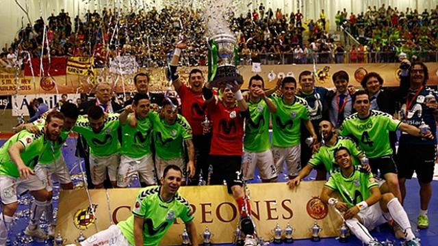 Movistar Inter, campeón de la Copa de S.M. El Rey